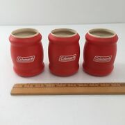 Lot Of 3 Vintage Coleman Tuffoams Foam Insulated Beer Soda Can Coozie Koozies