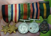 Ww2 Miniature Medals Officers Td