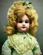 Original Antique French Jumeau Doll Molded Teeth French Bisque Doll 14