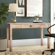 Driftwood Solid Wood Desk With Drawer, Distressed Real Finish A637
