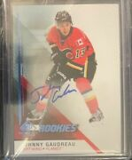 2014-15 Sp Game Used Autographs Blue 171 Johnny Gaudreau 2 Card Lot