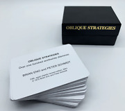 Brian Eno / Peter Schmidt Oblique Strategies Cards 5th Edition 2001 Brand New