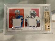 Bgs 9.5 2009 Matthew Stafford Topps National Chicle Dual Relics Rc 1/1 Proof