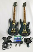 Xbox One Guitar Hero Live Guitars 2 Dongles Game Pair 2 W/ Microphone 2 Straps