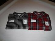 Big And Tall Long Sleeve Button Front Menand039s Shirts 4xb Sonoma Multi Color Plaid Nw