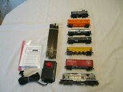 1 Six Car Freight Electric Train Set. Complete And Ready To Run Set. H.o. Scale. E
