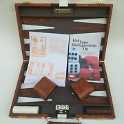 Vintage Backgammon And Chess Game Travel Briefcase Get The Games Out Bakelite