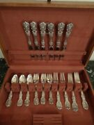 Reed And Barton Francis I Sterling Silver Flatware Set 24 Pc For 6 Chest