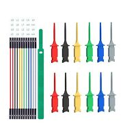 Jumper Wires Test Leads Kit Silicone Copper Mini Grabber Hook Clips Breadboard