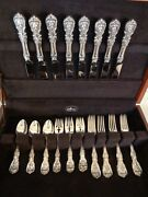 Old Mark+h Reed And Barton Francis I Sterling Silver 32pc For8 Flatware Set+chest