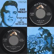 Nm/nm Elvis Presley My Baby Left Me /i Want Youi Need... Rca Victor 47-6540