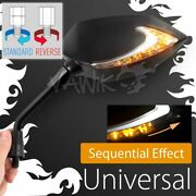 Vawik Lucifer Neat Stem Black Mirror Alterable And Dual Led Fits Reverse M10 1.25p