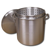 80 Qt. Aluminum Stock Pot In Silver With Lid