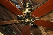 Restored Casablanca Panama 5 Ceiling Fan Inteli-touch Antique Brass Made In Usa