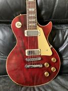 Vintage Gibson Les Paul Deluxe Wine Red 1980 Electric Guitar With Hard Case