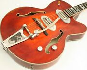 Eastman T58/v Hollow-body Electric Guitar W/hsc Antique Amber Bigsby 39145