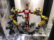 Marvel Iron Man Mark Iv And Suit-up Gantry Hot Toys Sideshow Plastic Ver Mms 160