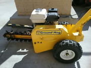 Ground Hog T-4 Trencher Digger 18 Honda Engine Commercial Grade Fit Ditch Witch