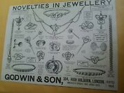 Antique Early 1900s Ad Godwin And Son Jewelry Maple And Co Furniture