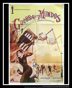 The War Of The Worlds 27x40 Spanish One Sheet Movie Poster Rerelease 1979