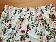 Set 2 Custom Floral French Country Chintz Pinch Pleat Drapes Curtains W47xl100