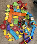 Lot Of 8 Cars Vtech Go Go Smart Wheels Cars And Airport Track Peices - 50+ Pieces