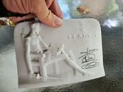 Lladro Collectors Society Signed Plaque - Don Quixote - Signed In Blue