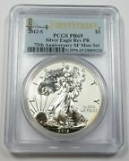 2012-s Pcgs Pr69 Reverse Proof American Eagle Silver Dollar 1 Us Coin 28150a