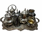 Towle And Pairpoint Vintage Silver Plated Coffee And Tea Set With Tray