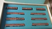 Con Cor N Scale Monon The Hoosier Line F3 A-b-a Diesel Engine And Passenger Cars