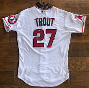 Autographed Mike Trout Angels Jersey Mlb Authentication Nike Authentic