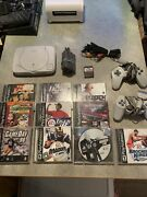 Sony Playstation Ps1 Bundle Lot W/2 Controllers,10 Games, 2 Memory Cards Works