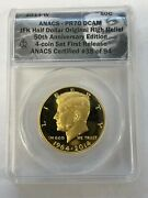 2014 50c Gold Kennedy Jfk Anacs Pf 70 Dc First Release 38 Of 94