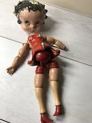 12 Betty Boop Antique Composition And Wood Doll Rare For Parts Or Restoration