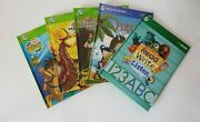 Lot Of 5 Tag Reader Leap Frog Books Read Write Listen Tangled Bakugan Hardcovers