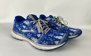 Brooks Revel 3 Run Merry Ugly Sweater Christmas Size 9.5 Womens Shoes Blue