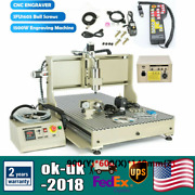 Usb 4 Axis Cnc 6090 Router 3d Engraver Metal Milling Engraving Machine 1500w+rc