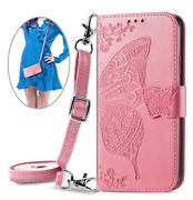 For Cell Phones Pu Leather Card Holder Case Flip Wallet Crossbody Bag Purse Skin