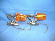 Nos Pair Of Vintage Dominion Auto Amber Truck Roof Fender Marker Lights Ct7