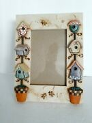 Birdhouse Theme Picture Frame Free Standing Birdhouses And Bumblebees 4×6 Photo
