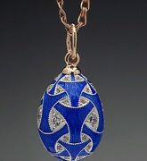 Gold Silver Egg With Enamel Like Faberge