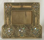 Early 20th C. Studios Bronze Dore' Abalone Picture Calendar Frame