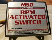 Preowned Msd Activated Switch 8500 Rev. Chip And Pro-lite Speed Control.pn8950
