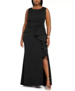 Betsy And Adam Plus Size Bow-detail Gown Msrp 239 Size 16w 12b 1182 Blm