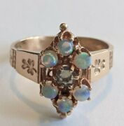 Antique Victorian 14k Gold Opal Ring Size 5