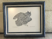Charles Beckendorf Great Horned Owl Signed Numbered Print