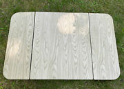 Vintage Table Top Folding Leaves Wood Trifold Hoosier Kitchen Formica