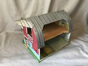 Vintage Marx Toy Tin Farm Barn With Farm And Animal Characters