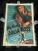 My Name Is Julia Ross 1945 One Sheet Movie Poster Linen Lined