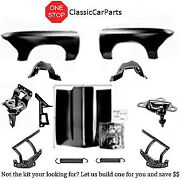 1966 Chevelle Cowl Hood Hinges W/springs Latch Catch Fenders W/inners +